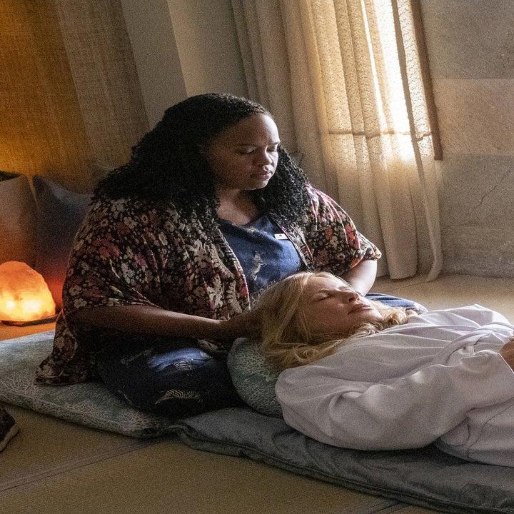 Natasha Rothwell gives Jennifer Coolidge a massage
