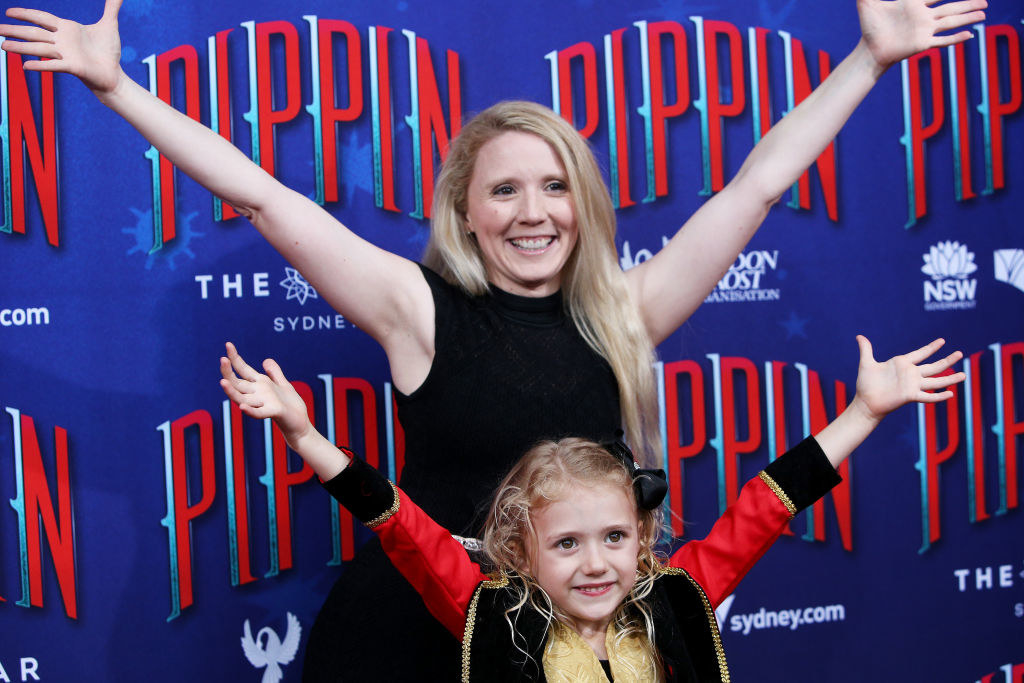 Nikki Webster and daughter Skylah McMah posing at a red carpet event