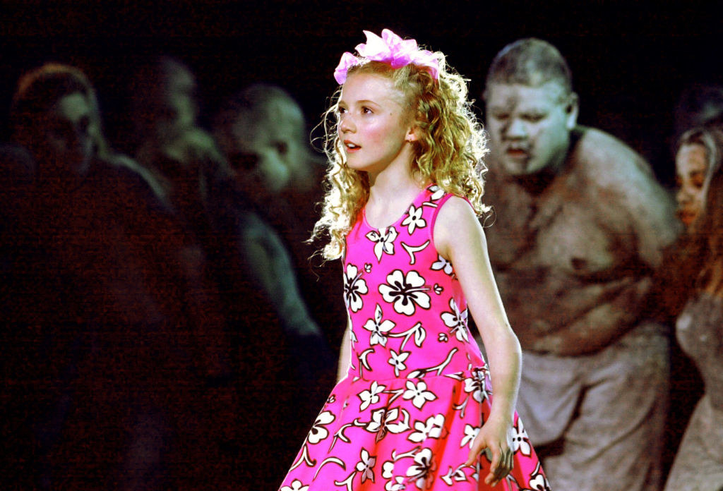Nikki Webster performs during the opening ceremony of the 2000 Summer Olympics