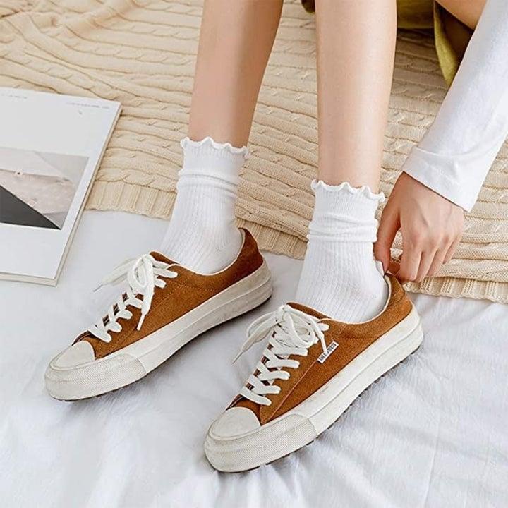 the socks in white