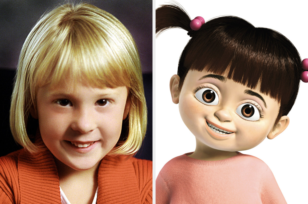 Mary Gibbs and Boo, the character she voiced