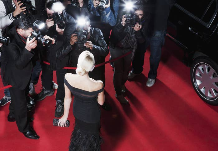 a celebrity on a red carpet