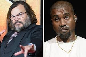 Jack Black and Kanye West