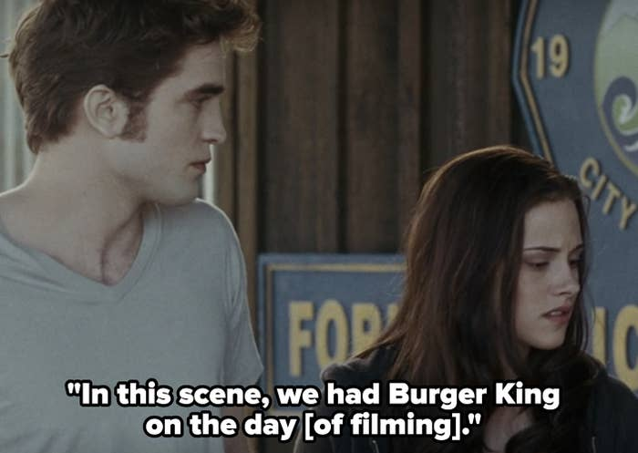 In this scene, we had Burger King on the day [of filming]