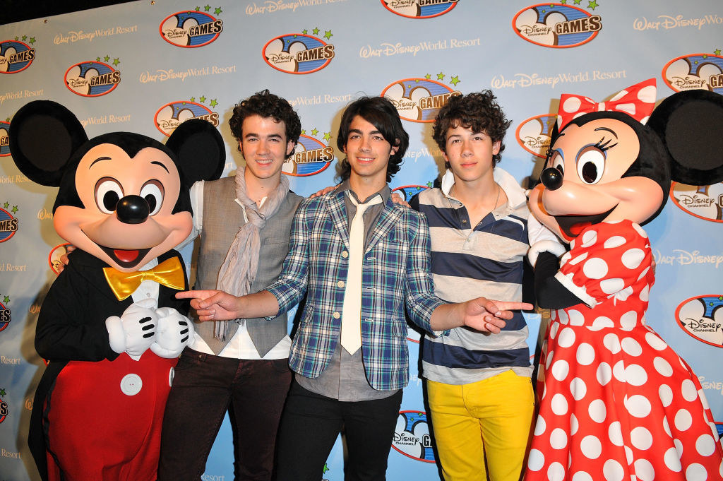 The Jonas Brothers at the Disney Channel Games red carpet