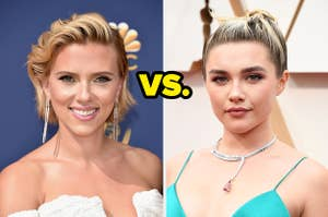Scarlett Johansson and Florence Pugh and the word