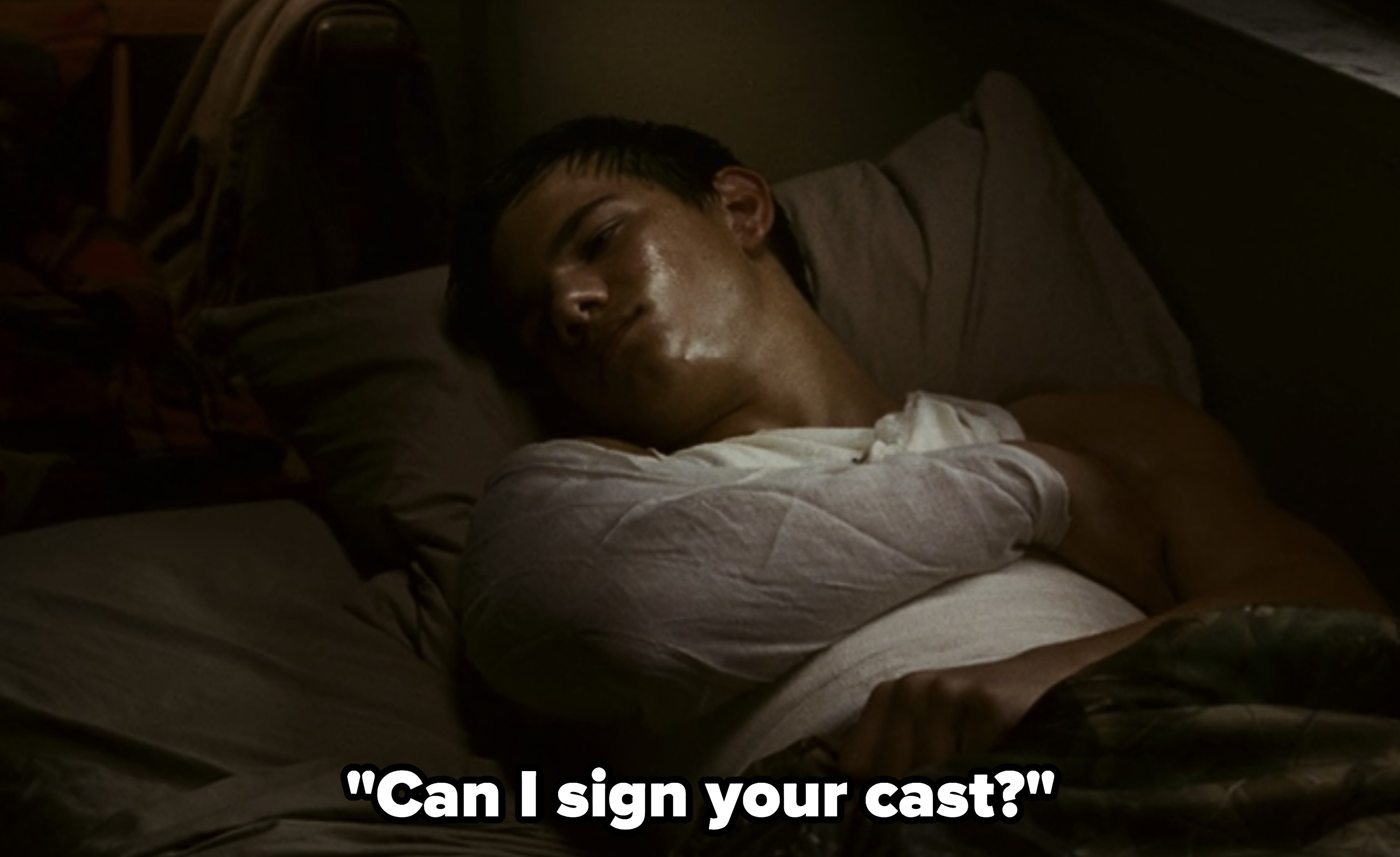 Rob:Can I sign your cast?