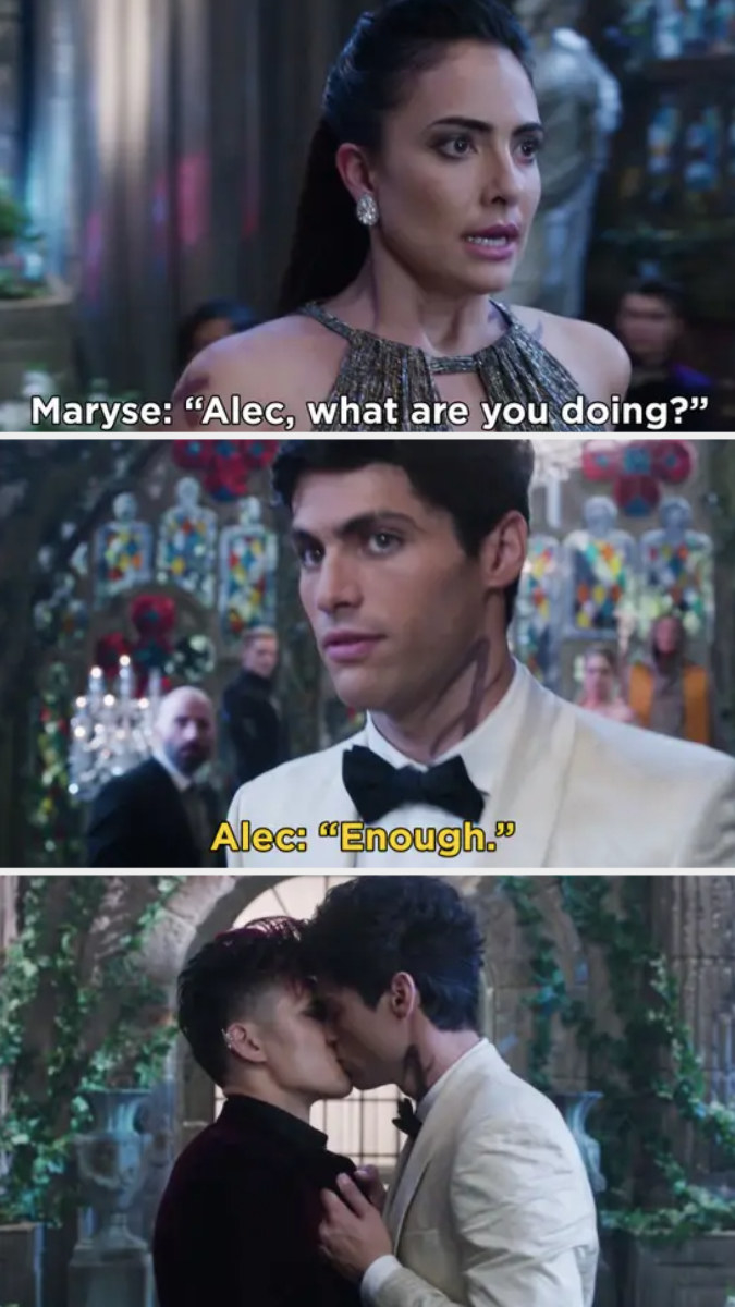 """Maryse: """"Magnus, what are you doing?"""" Alec: """"Enough"""""""