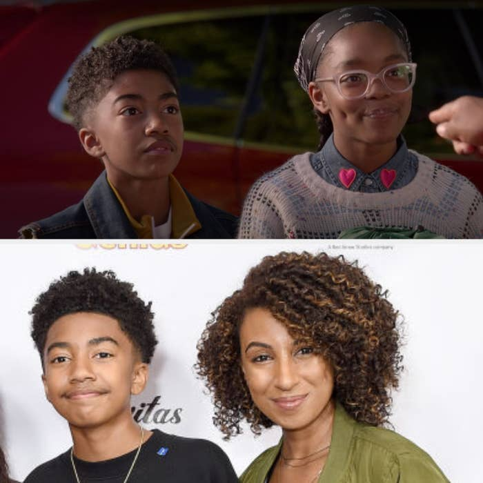 Above, Jack and Diane are getting ready to go on a camping trip. Below, Miles is with his sister at an event