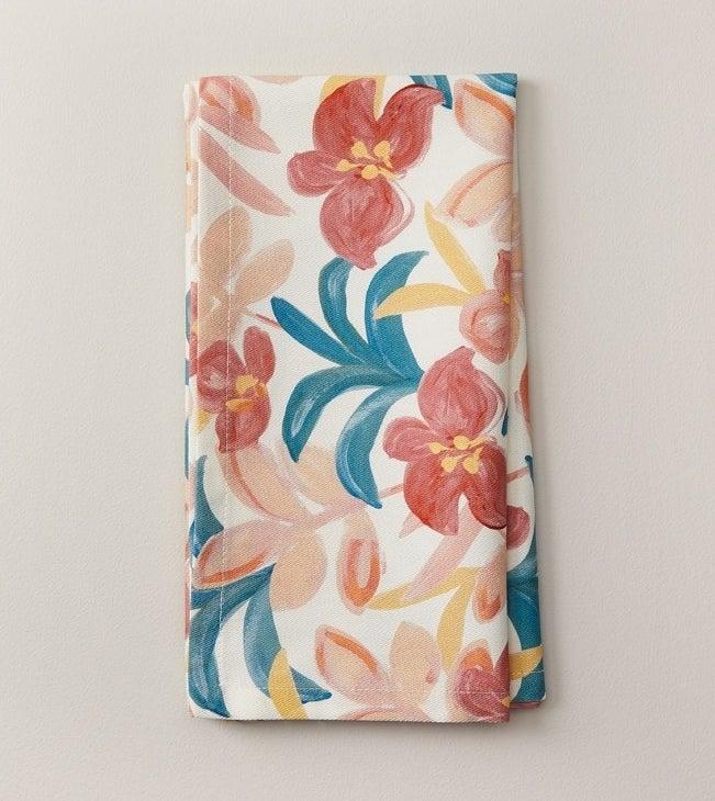 a floral reusable napkin