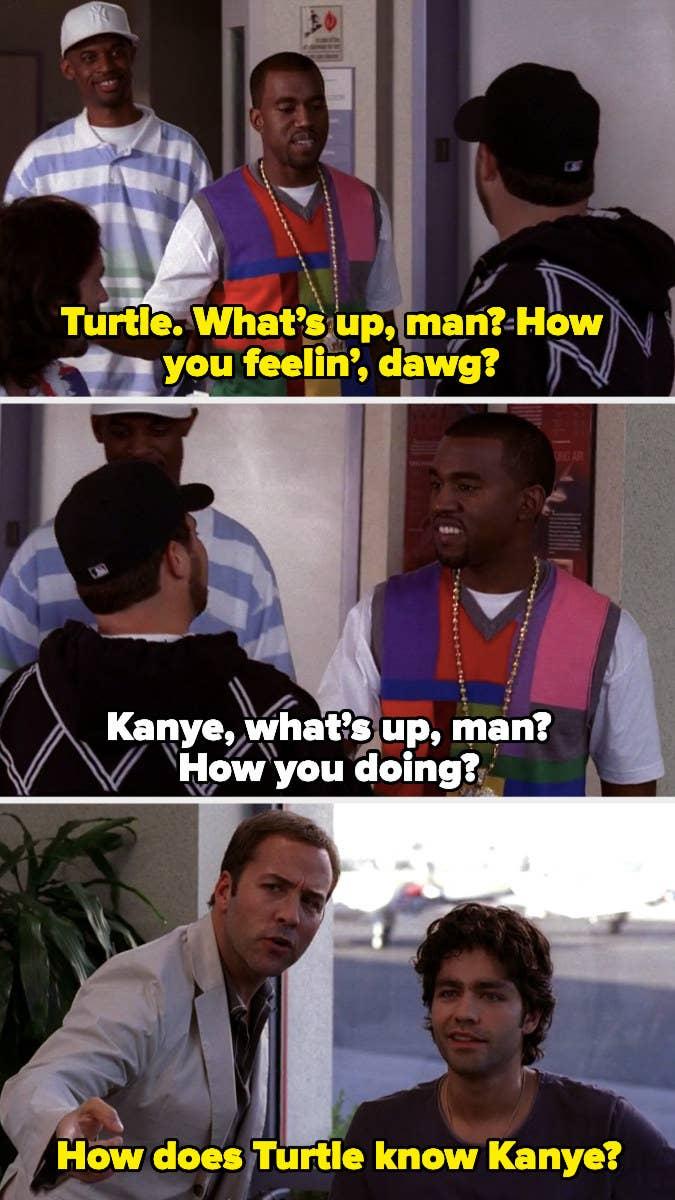 Kanye greeting Turtle
