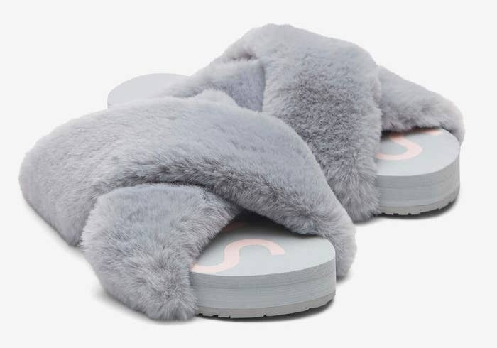 the fuzzy slides in gray