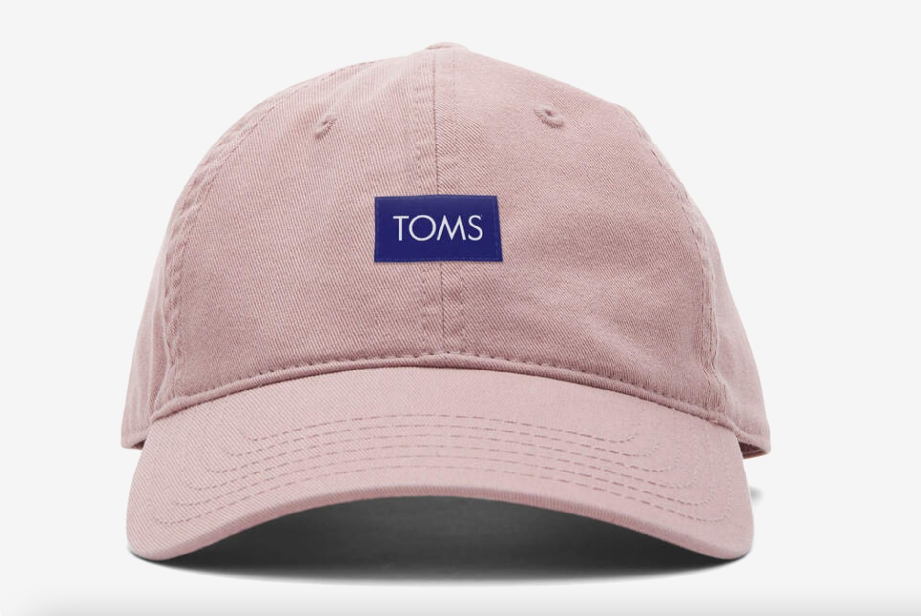 the Toms logo dad hat in dusty rose