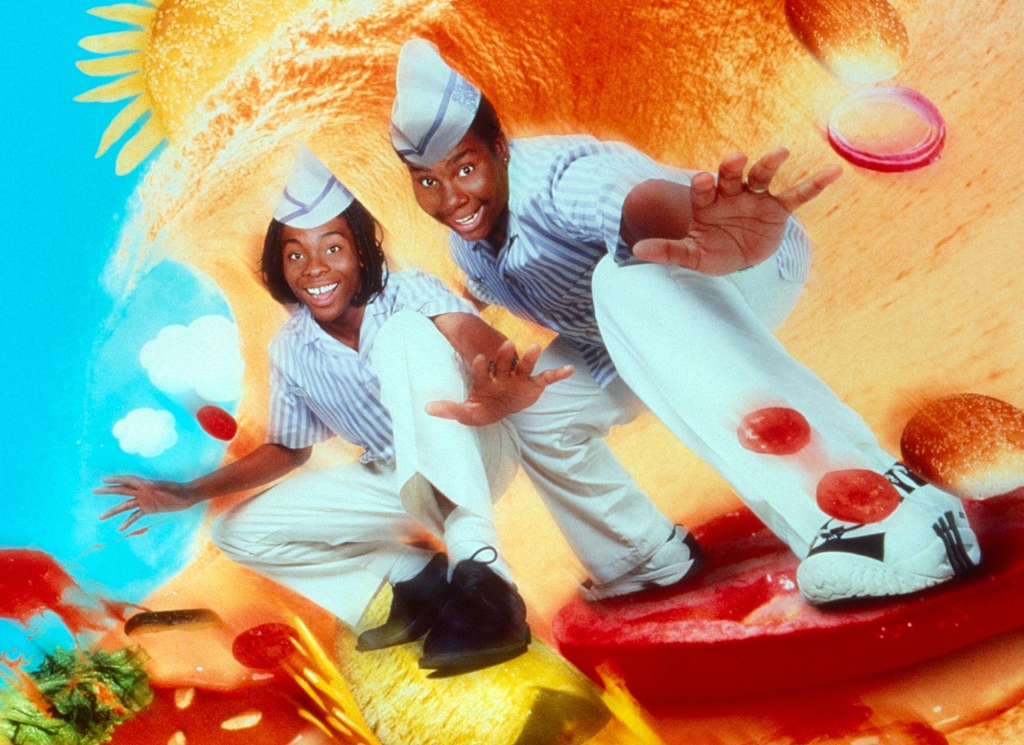 Kenan and Kel in Good Burger art