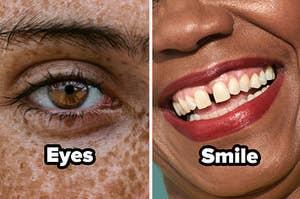eyes or smile