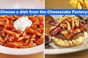 choose a dish from the cheesecake factory