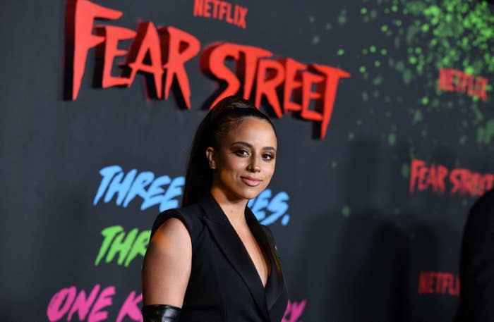 Kiana Madeira at the premiere of the Fear Street trilogy