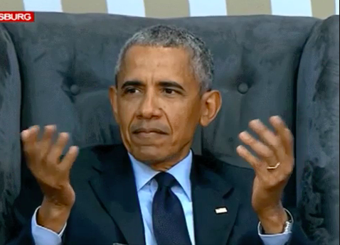 Barack Obama looking confused