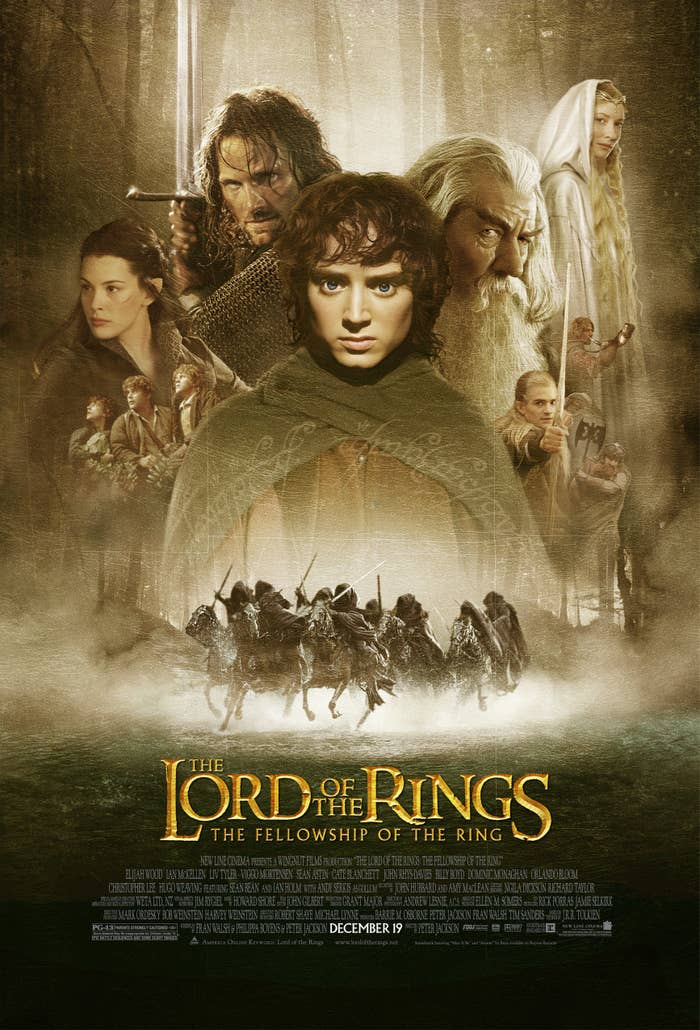 A promo poster for The Lord of the Rings: The Fellowship of the Ring