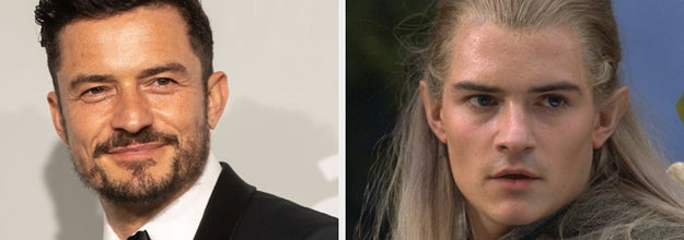 Orlando Bloom on the red carpet, side by side with Legolas in Lord of the Rings