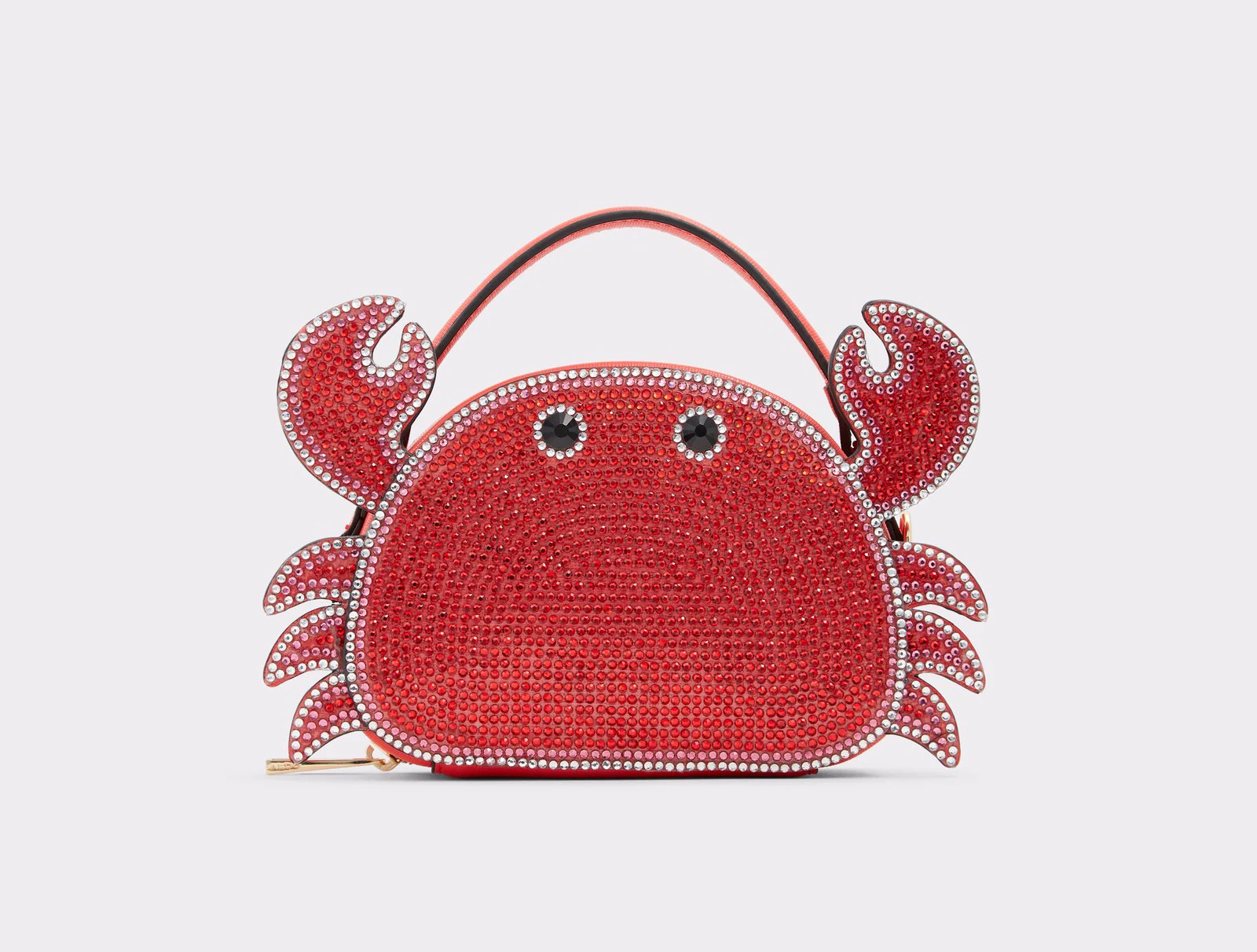 A crab-shaped purse with a large handle
