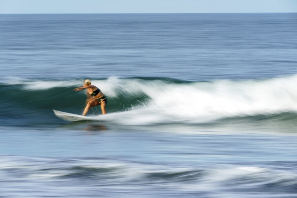 Anat riding a wave