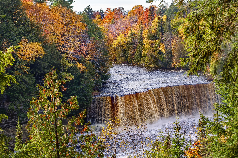 The Tahquamenon Falls in fall