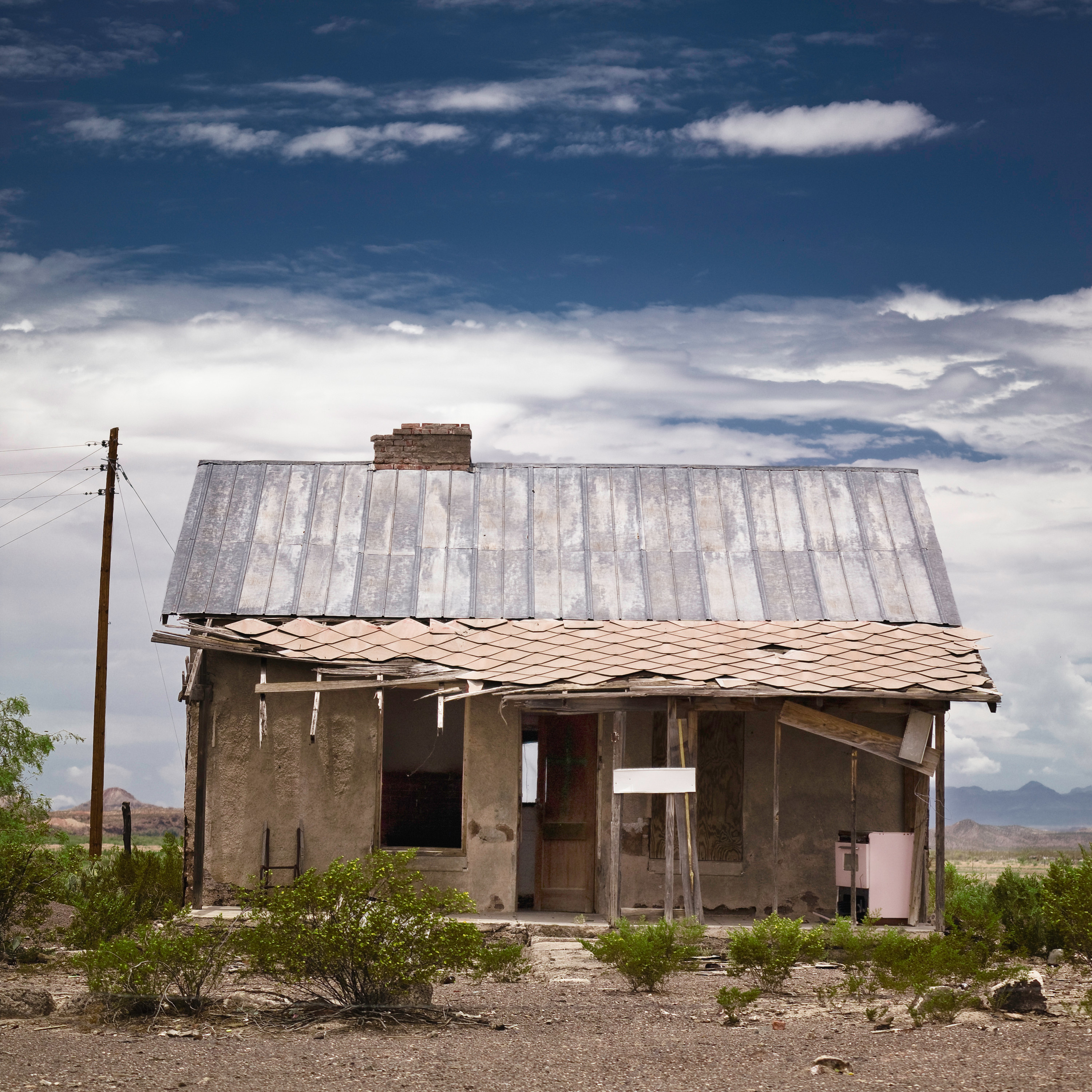 An abandoned old building in Terlingua