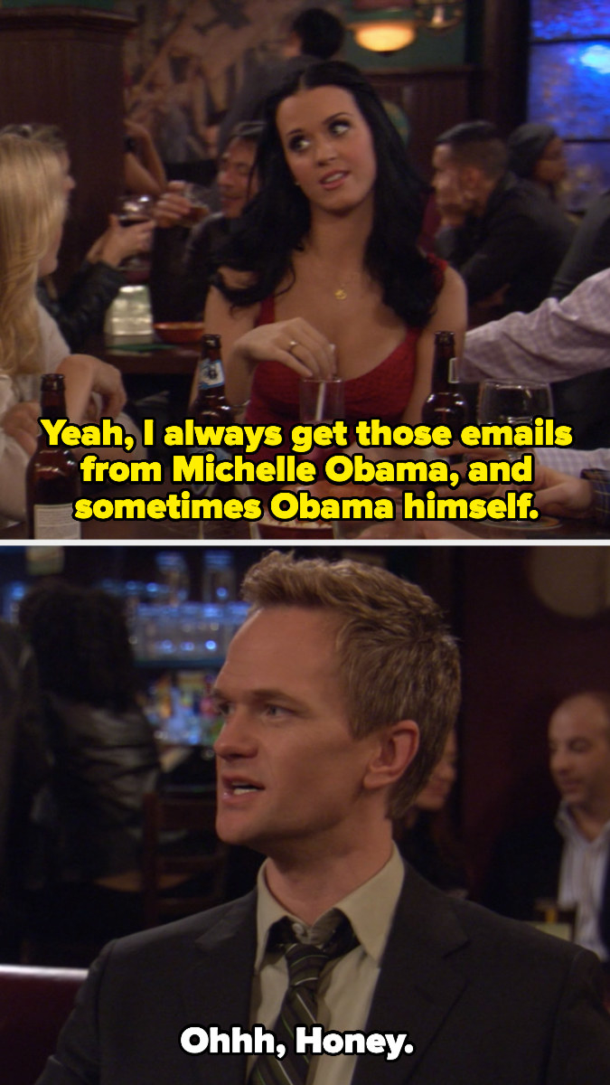 Honey saying she gets emails from Michelle and Barack Obama
