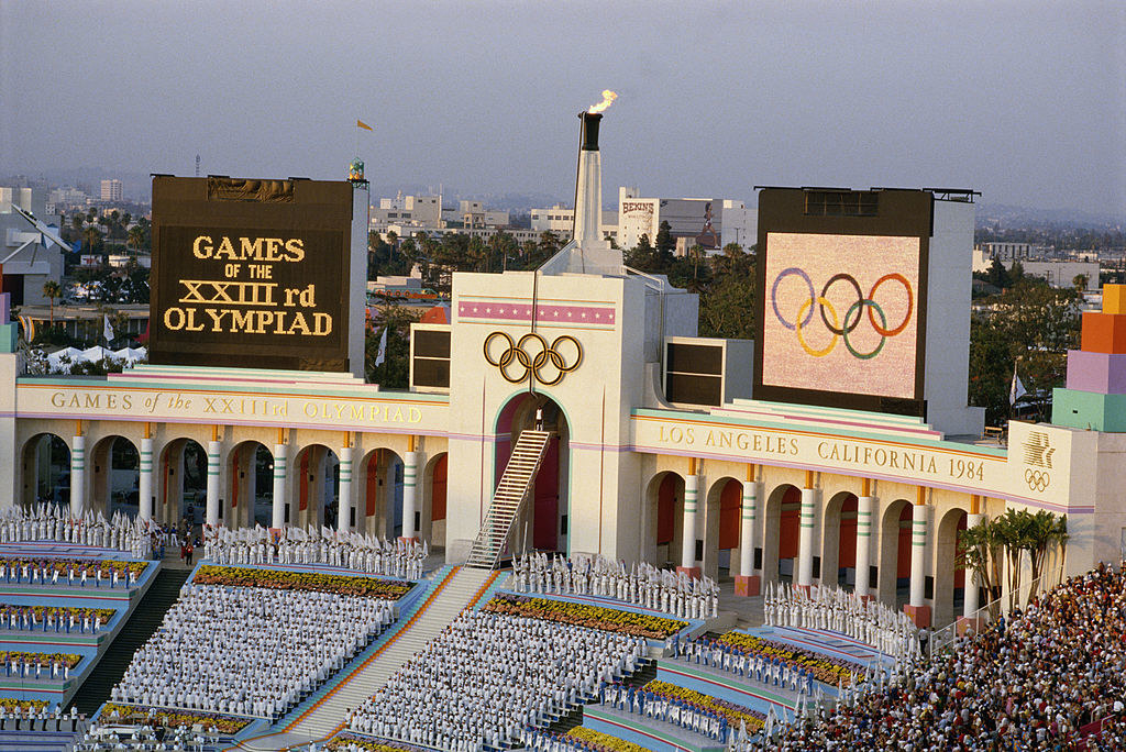 The stadium of the LA Olympics