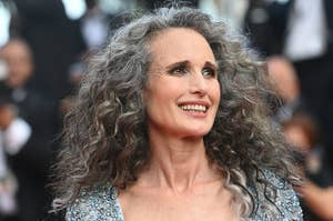 """Andie MacDowell attends the """"Annette"""" screening and opening ceremony during the 74th annual Cannes Film Festival"""