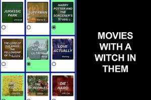 A grid of movies with the clue