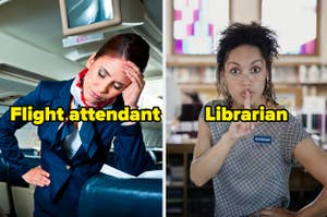 Flight attendant and librarian