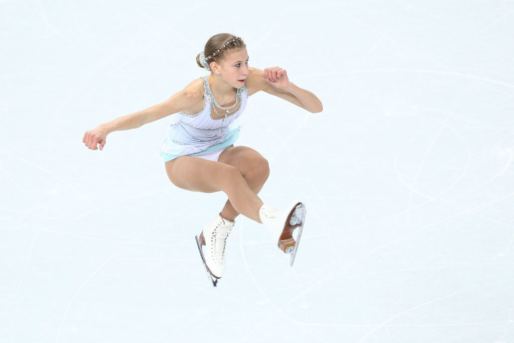Polina does a leap