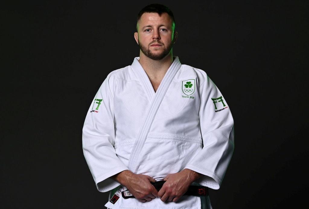 Ben poses in his new Irish team uniform