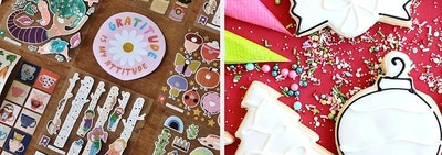 a sticker subscription and a cookie decorating subscription