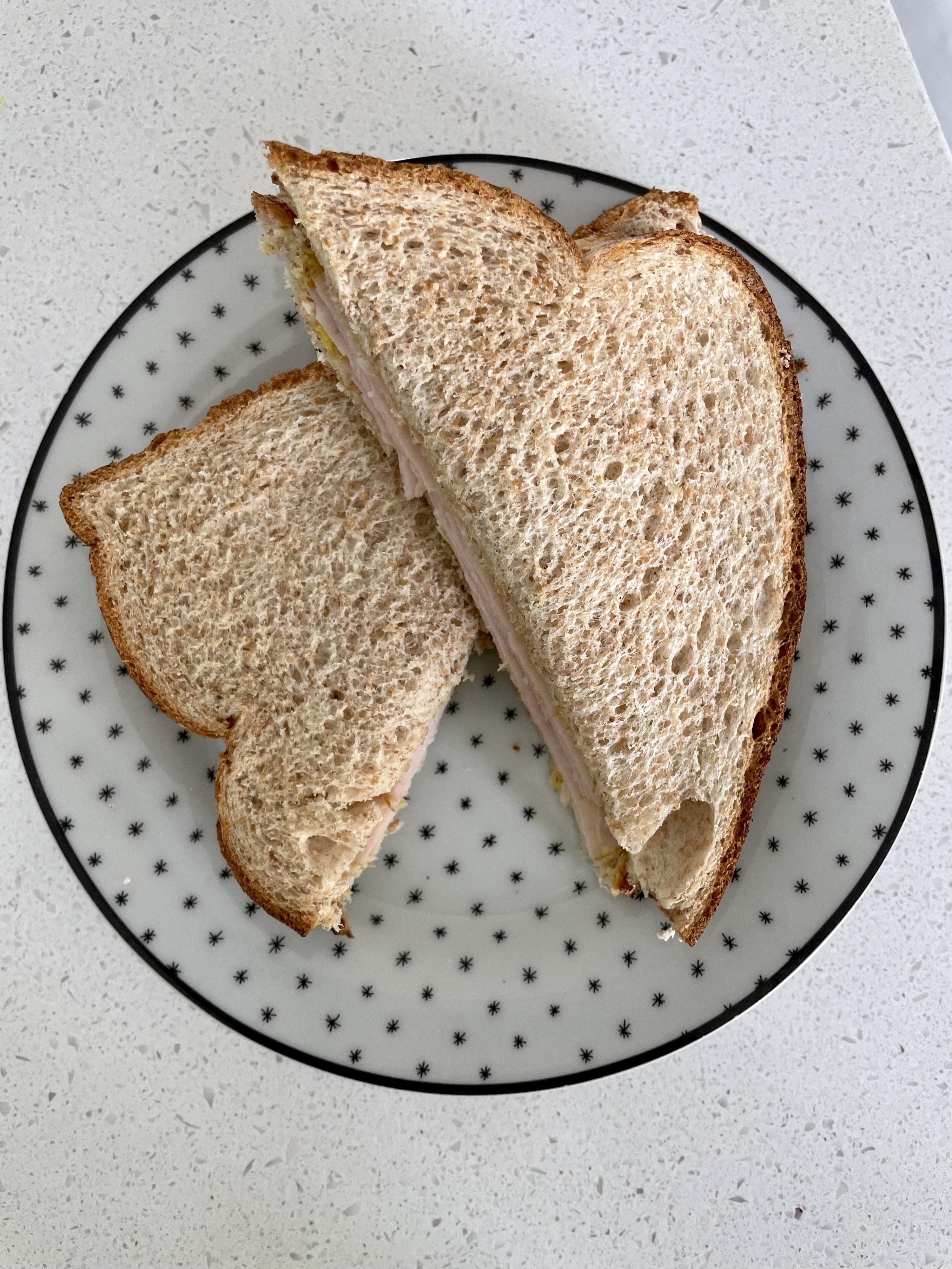 Plated turkey sandwiches
