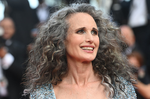 Andie MacDowell Said She Got A Lot Of Pushback From Her Managers When She Wanted To Change Her Hair To Gray