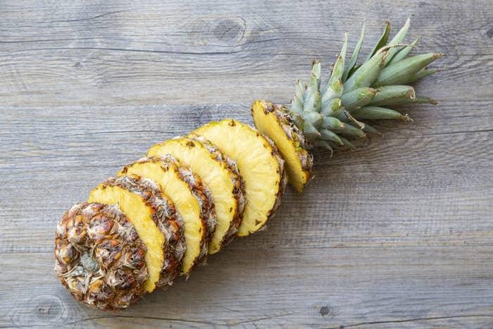a sliced pineapple