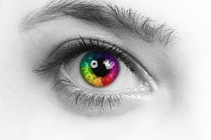 A rainbow eye