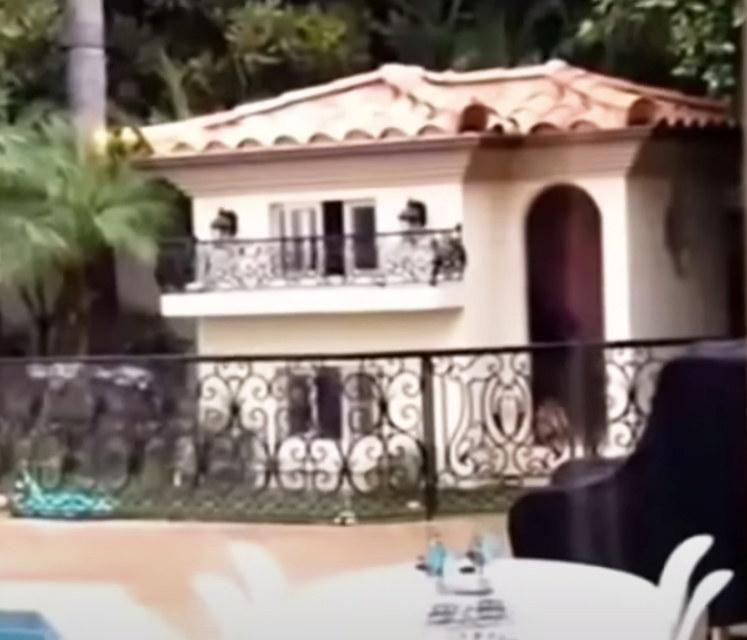 a smaller version of her Los Angeles villa