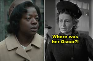 """Side-by-side of Viola Davis in """"Doubt"""" and Thelma Ritter in """"Miracle on 34th Street"""""""