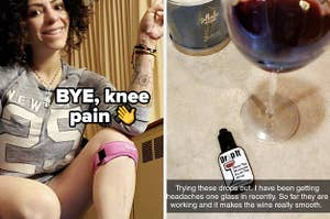 knee stabilizer and wine drops