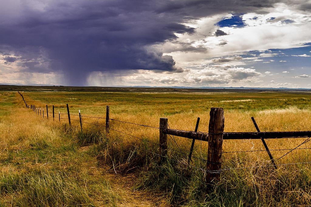Dark clouds overlooking thePawnee National Grasslands in Colorado
