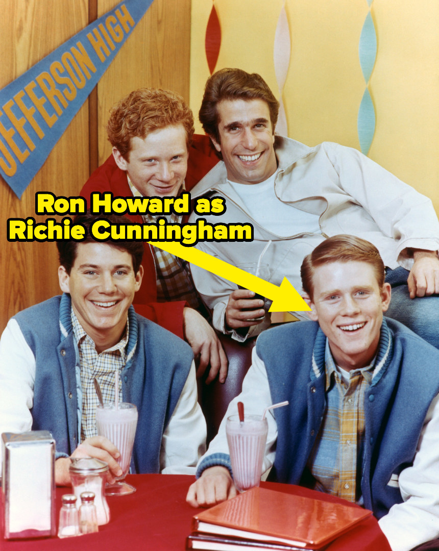 """Ron Howard with some of the cast of """"Happy Days"""""""