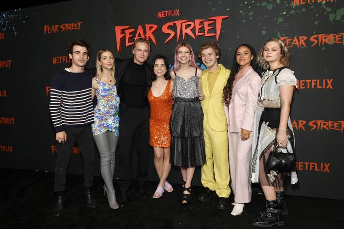 The cast of Fear Street on the red carpet