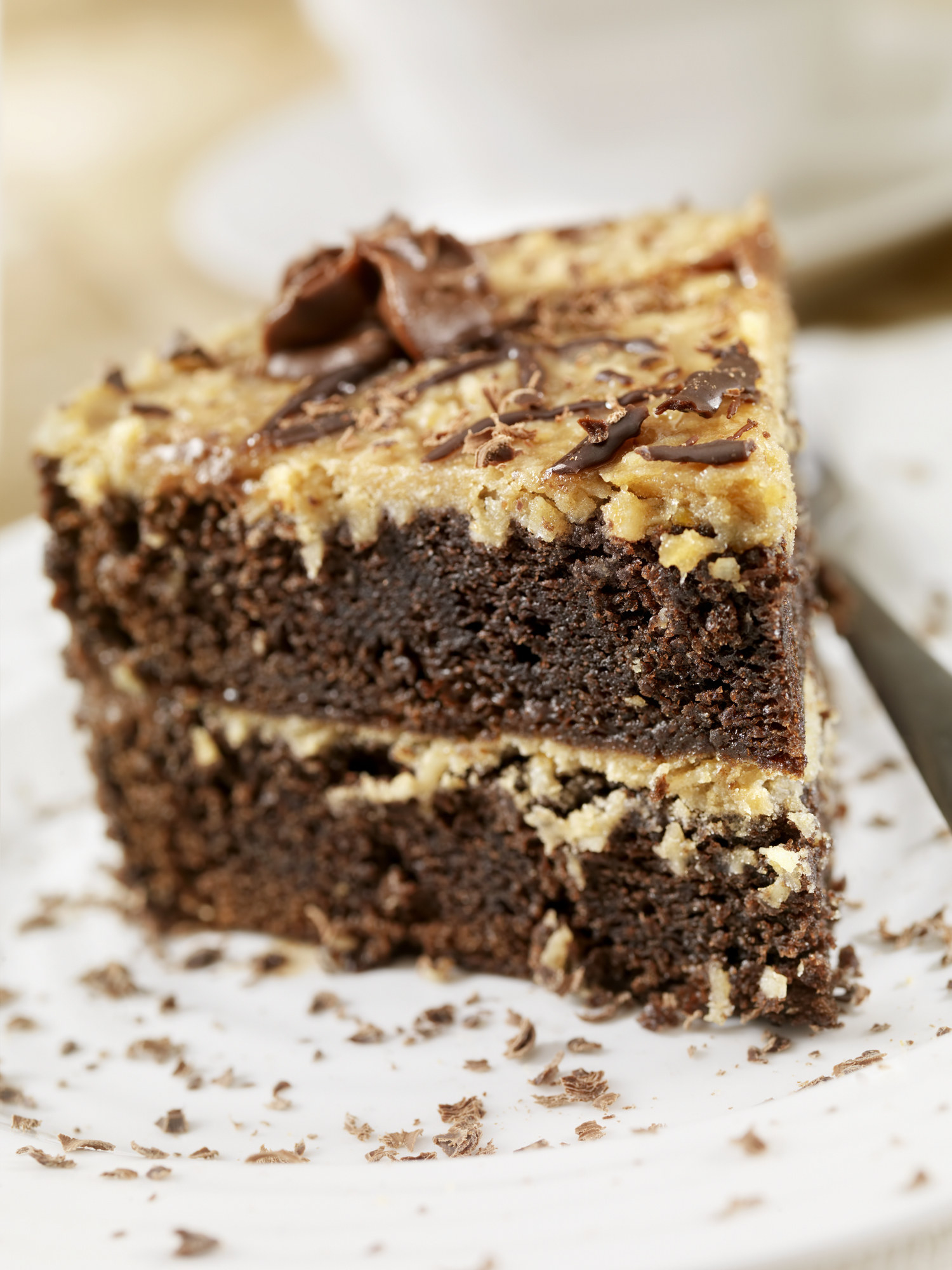 slice of german chocolate cake