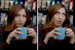 Gina Linetti rolling her eyes