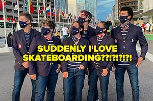 The USA Skateboarding team
