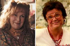 Molly Weasley from Harry Potter and Rosie from Mamma Mia